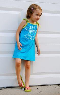 T-shirt to Girl's Dress tutorial
