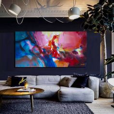 Abstract painting large on canvas Acrylic Painting Canvas, Canvas Artwork, Your Paintings, Original Paintings, Brush Strokes Painting, Orange Painting, Handmade Frames, Contemporary Wall Art, Abstract Wall Art
