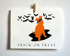Trick or Treat Halloween Card.