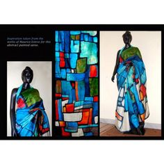 Bishnupur Sonamukhi Silk Hand Painted Saree Inspired from Maurice Esteve Painting - Online Shopping for Silk Sarees by Crystelle Boutique