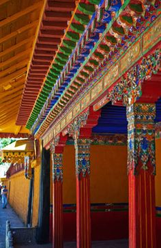 Summer Palace in Tibet, If you care about Tibet and preserve conscious cultures that won't harm the planet, sign this petition, Peaceful Places, Beautiful Places, Beautiful Buildings, Nepal, Tibetan Buddhism, Tibetan Symbols, Buddhist Art, Le Tibet, Dalai Lama
