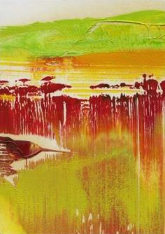 Gerhard Richter - Untitled (2009), oil on card #art #painting