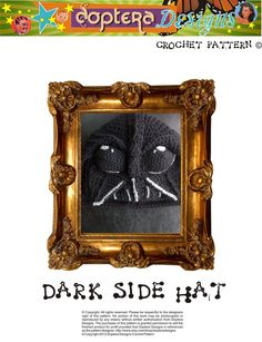 Dark Side Crochet Hat Pattern Inspired by the character Darth Vader. $5,99, via Etsy.