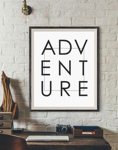 Adventure motivational poster, Digital art print, modern living room wall decor, trendy wall art, travel quote poster print, typography https://www.etsy.com/listing/508332279/adventure-motivational-poster-digital?utm_campaign=crowdfire&utm_content=crowdfire&utm_medium=social&utm_source=pinterest