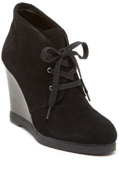 $59, Tesori Marissa Wedge Bootie. Sold by Nordstrom Rack. Click for more info: https://lookastic.com/women/shop_items/173522/redirect