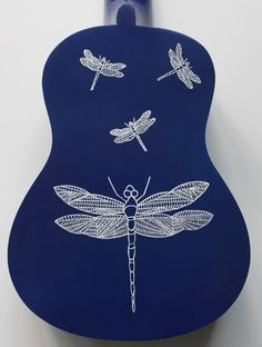 Painted Ukulele  Dragonflies by UkuLeeShee on Etsy