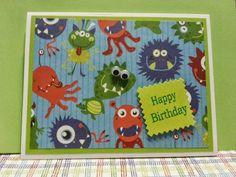 Birthday card for a little boy  www.facebook.com/KatherinesHandmadeCreations