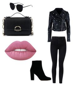 """""""Total Black v/s pasteles"""" by gisell-bravo on Polyvore featuring moda, Nasty Gal, J Brand y Sole Society"""