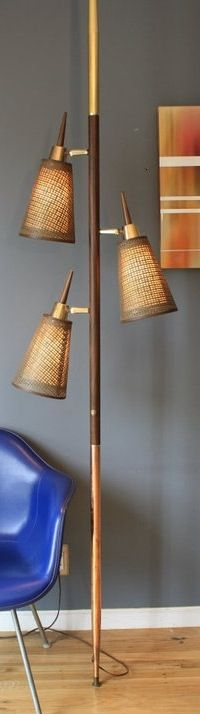 Tension Pole Lamp. Repinned by Secret Design Studio, Melbourne. www.secretdesignstudio.com