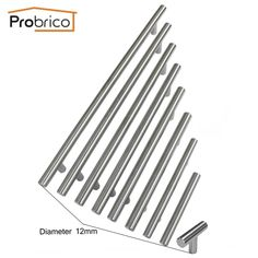 Probrico Cabinet T Bar Handle Diameter 12mm CC 50mm~320mm Stainless Steel Furniture Drawer Knob Kitchen Cupboard Door Pull #electronicsprojects #electronicsdiy #electronicsgadgets #electronicsdisplay #electronicscircuit #electronicsengineering #electronicsdesign #electronicsorganization #electronicsworkbench #electronicsfor men #electronicshacks #electronicaelectronics #electronicsworkshop #appleelectronics #coolelectronics