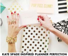 Kate Spade Inspired Planner Perfection free inserts for kikki k and Filofax personal planner