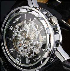 Steampunk Mechanical Wrist Watch For Men on Etsy, $18.99