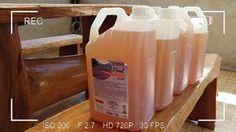 Sabão líquido caseiro limpeza pesada