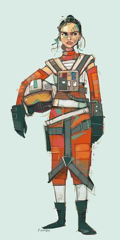 Rey as a pilot