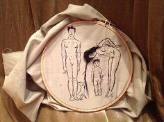 alina udarova embroidery  of my family