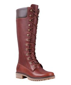 Another great find on #zulily! Dark Brown 14-Inch Premium Lace-Up Boot by Timberland #zulilyfinds