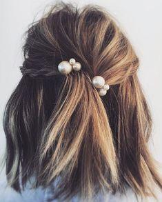 Pearls | Hair | Hairstyles | Hair Cut | Hair Color | Braid | Plait | Beach Waves | Personal Style Online | Fashion For Working Moms & Mompreneurs
