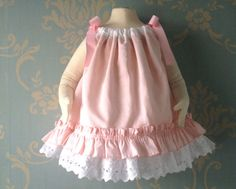 9-12 month size Flower Girl Dress or Easter Dress Refashion Vintage Pillowcase Dress by TastefulTikes, $25.00