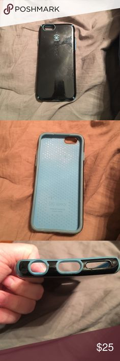 Speck iPhone 6/6s case Slim yet durable speck candy shell case. Blue and black, has scratches on back but case is still in great working condition with no rips on interior silicone or lining speck Accessories Phone Cases