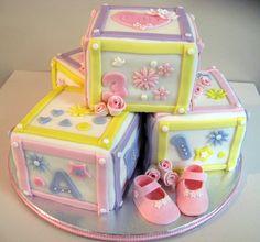 Baby Blocks Cake- LOVE it!