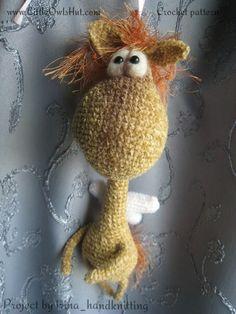 040 Crochet Pattern Horse Glasha. Amigurumi Toy - PDF file by Pertseva