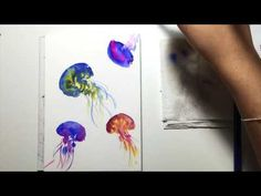 A step by step demonstration/tutorial of watercolor jellyfish painting on postcard. (part 1) For more of my works: https://www.facebook.com/untamedlittlewolf...