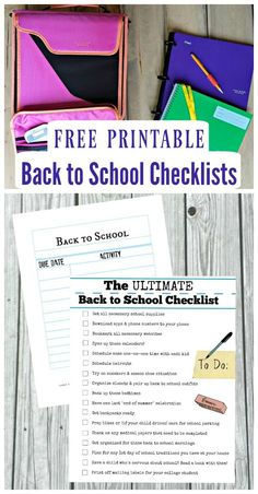 FREE Back to School Checklist printable - get organized for the first day of school (along with the school year!) with these tips, hacks and great list of things to get kids ready for elementary, middle school or high school!