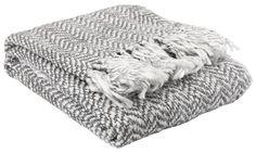 Pledd SVARTTOPP 130x170cm grå | JYSK Merino Wool Blanket, Plaid, Interior Inspiration, Textiles, Colours, Scandinavian, Industrial, Patterns, Home Decor