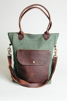05c26044b1 The Weekender- waxed canvas leather tote bag gym bag school bag laptop bag  Waxed Canvas