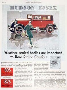 1931 Essex Super Six Coach Vintage Ad
