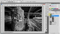 Black and White conversion from HDR - Photoshop Tutorial