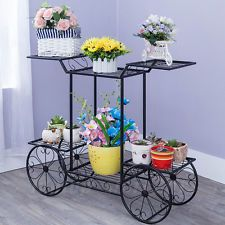 Metal Flower Pot Plant Stand Shelf Rack Display Indoor Home Patio Garden Decr