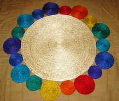 Wow! Check out our new jute natural rainbow ball mat that is on its way and will be arriving in six weeks. Handmade by the ladies working for #Fair #Trade #Shohojogita, Bangladesh.  *110cm Diameter *Available for retail pre-order $149.95 incl freight pending delivery location *Weekly payment terms available  *Available for Wholesale pre-order please email sihamcraft@optusnet.com.au  Siham Craftlink www.sihamcraftlink.com