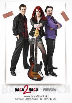 Dizajn kontaktnej kartičky pre hudobnú skupinu BACK2BACK