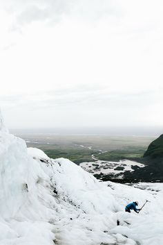 A view of the glacier during our hike! Read more about our trip to Iceland in our blogpost!