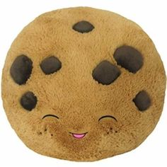Comfort Food Chocolate Chip Cookie: An Adorable Fuzzy Plush to Snurfle and Squeeze! Mini Chocolate Chips, Homemade Chocolate, Chocolate Chip Cookies, Hot Chocolate, Food Pillows, Cute Pillows, Diy Pillows, Cushions, Throw Pillows