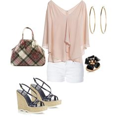 white, pink & black, created by bonnaroosky.polyvore.com