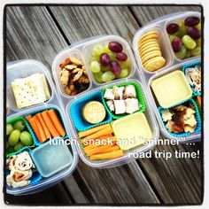 Healthy snacks and great containers for road trip!