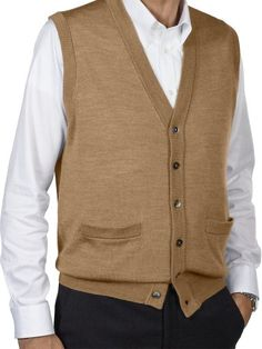 Blue Ocean Men's Argyle V-Neck Sweater Vest-Black-X-Large Blue ...