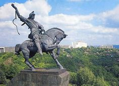 Salavat Yulaev monument in Ufa, Russia Horse Sculpture, Animal Sculptures, Equestrian Statue, Russian Architecture, Horses And Dogs, Samurai Art, Centaur, Ancient Civilizations, Horse Art