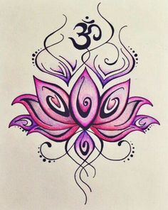 Traditional lotus flower tattoo design with ohm sign tattoos om henna designs tattoo designs lotus tattoo design tattoo ideas tattoos om mightylinksfo