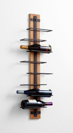 Staggered Rustic Wine Holder contemporary-wine-racks