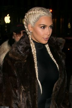 Radiant: The reality star as usual had on a flawless coat of makeup to compliment her famous features