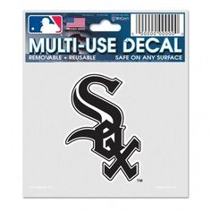 Chicago White Sox Decal 3x4 Multi Use Special Order