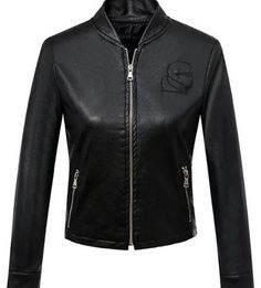 Zip Up Slim Fitted Short Jacket  $63.99    Specification  Color: BLACK  Size: S, M, L  Category: Women > Outerwear > Jackets & Coats     Clothes Type: Jackets  Material: Faux Leather  Type: Slim  Clothing Length: Short  Sleeve Length: Full  Collar: Stand-Up Collar  Pattern Type: Solid  Embellishment: Zippers  Style: Casual  Season: Fall,Winter  With Belt: No  Weight: 0.600kg  Package Contents: 1 x Jacket