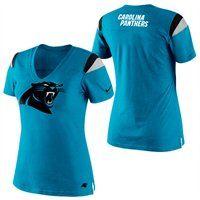 Nike Carolina Panthers Ladies Fashion Football Premium T-Shirt  Fanatics   FanaticsWishList f8b11528e