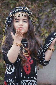 Adorable Kurdish girl in traditional Attire.