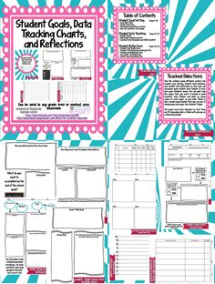 Student Data Folder-Goal Setting, Data Tracking Charts, and Self Reflections Student Data Folders, Data Binders, Student Goals, Elementary Counseling, School Counselor, Student Led Conferences, Goal Setting For Students, Self Contained Classroom, Classroom Organization
