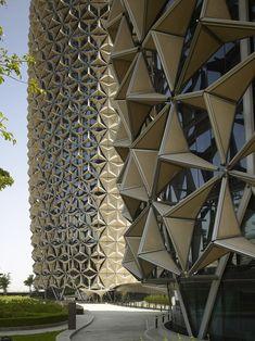 Al Bahr Towers, Abu Dhabi, United Arab Emirates. Aedas.