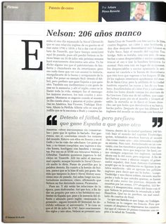 Nelson_ 206 años manco_Patente de Corso_Arturo Pérez-Reverte_El Semanal 20 de julio 2016